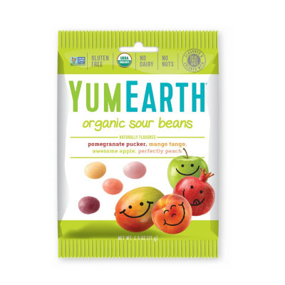 YumEarth Organic Sour Beans - 2.5 oz - 12 Count