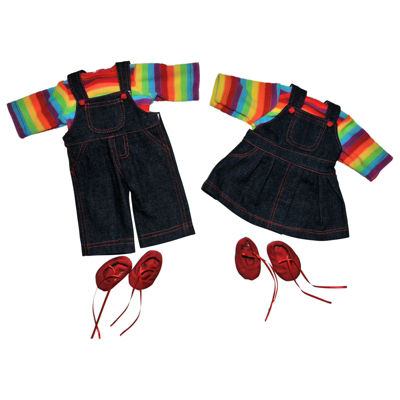 The Queen's Treasures 2-pc. 15 Inch Baby Doll TwinRainbow Outfits
