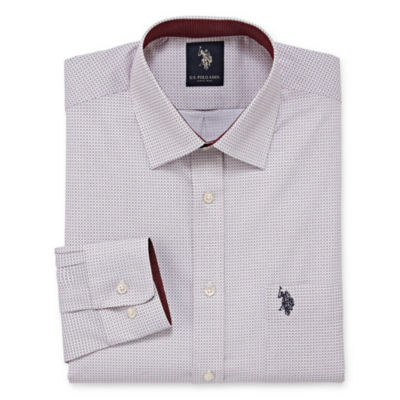 U.S. Polo Assn. Uspa Dress Shirt Big And Tall Long Sleeve Geometric Dress Shirt