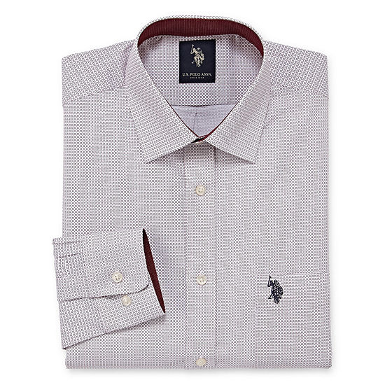 U.S. Polo Assn. Dress Shirt Big And Tall Mens Spread Collar Long Sleeve Dress Shirt