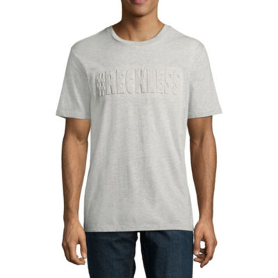Hashtag Reckless Embossed Graphic Tee