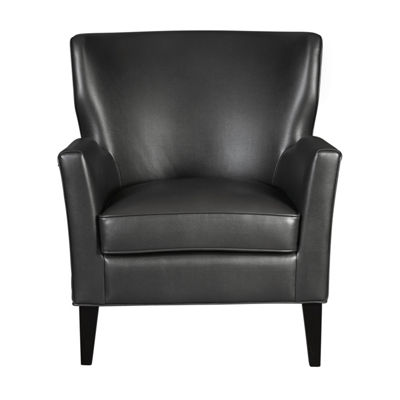 Modern Style Faux Leather Accent Arm Chair