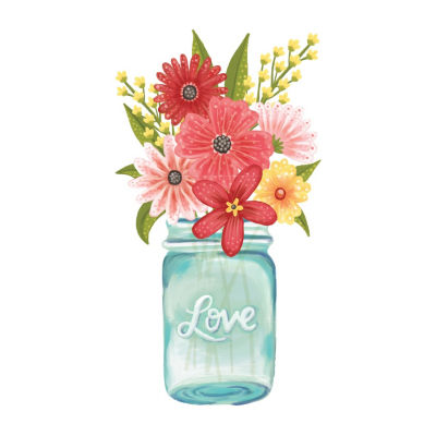 New View New View Mason Jar Decal Wall Decal