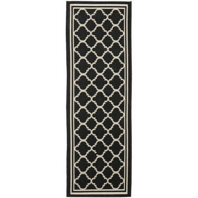 Safavieh Courtyard Collection Crispian Geometric Indoor/Outdoor Runner Rug