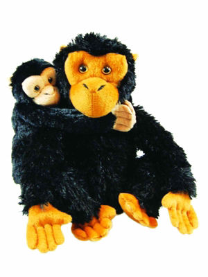 The Queen's Treasures 18 Inch Doll Size Mother & Baby Chimp Toy