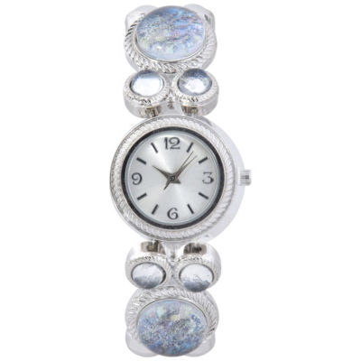 Mixit Womens Silver Tone Bracelet Watch-Wac2026jc