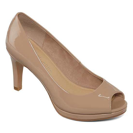 CL by Laundry Womens Nakia Pumps Peep Toe Stiletto Heel