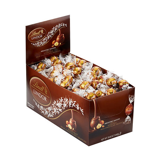 Lindor Hazelnut Milk Chocolate Truffles 120 Count