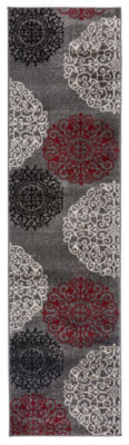 World Rug Gallery Contemporary Modern Floral Runner Rug
