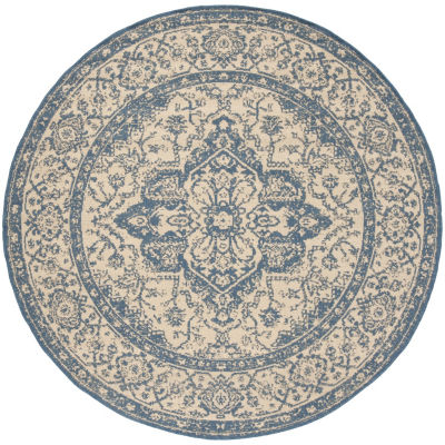 Safavieh Linden Collection Alton Oriental Round Area Rug