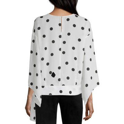 Worthington Bell Sleeve Side Tie Top - Tall