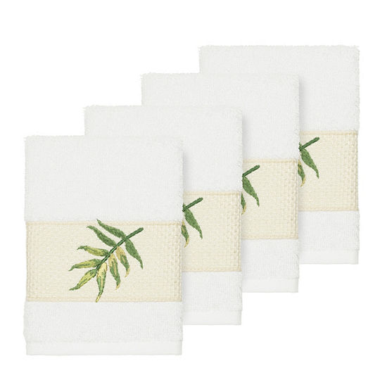 Linum Home Textiles 100% Turkish Cotton Zoe Embellished Towel Collection