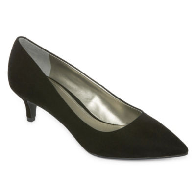 Worthington Womens Danika Kitten Heel Pumps