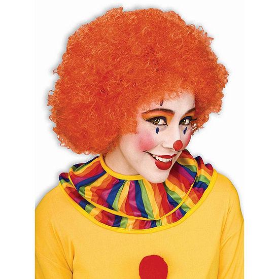 Orange Afro Wig Dress Up Accessory