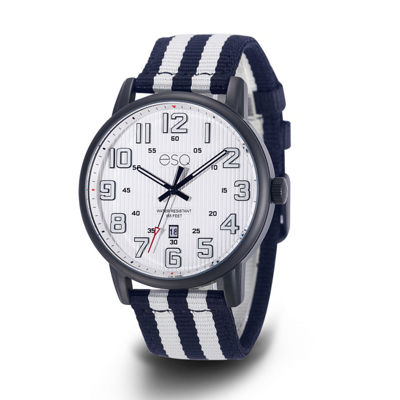 Esq Mens Two Tone Strap Watch-37esq026101a