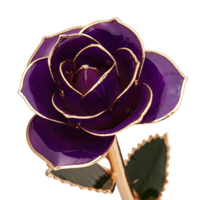 24K Gold Dipped Purple Rose