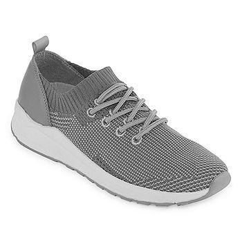 Arizona Demi Womens Lace-up Sneakers (Grey)