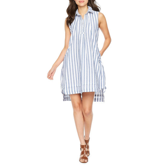 Sharagano Sleeveless Shirt Dress