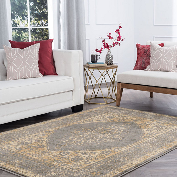 Tayse Harper Transitional Border Area Rug