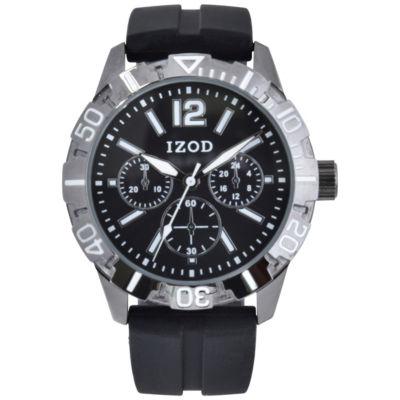 IZOD Mens Gray Strap Watch-Izo9066jc