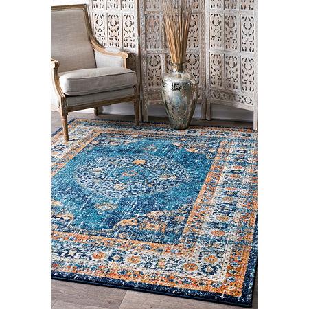 nuLoom Persian Vintage Arla Area Rug, One Size , Blue