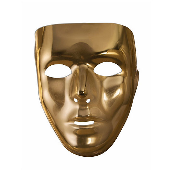 Gold Face Mask Dress Up Accessory