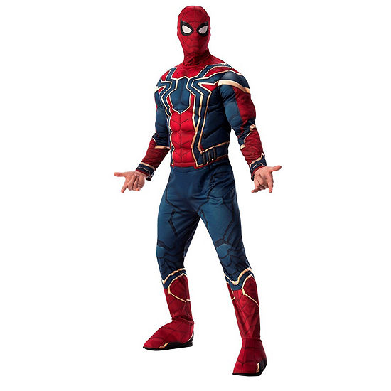 Marvel Avengers Infinity War Deluxe Mens Iron-Spiderman Dress Up Costume One Size Fits Most