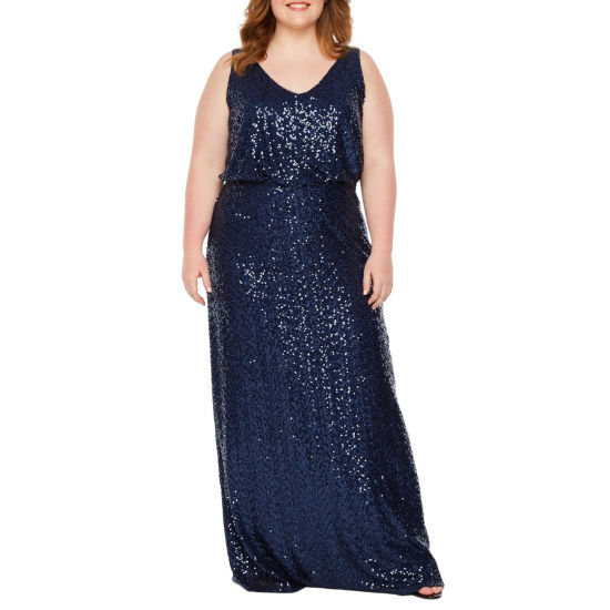 Blu Sage Sleeveless Evening Gown - Plus