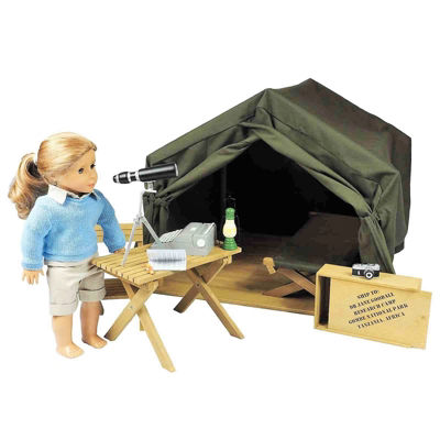 The Queen's Treasures 18 Inch Doll Gombe Camping Table & Chair