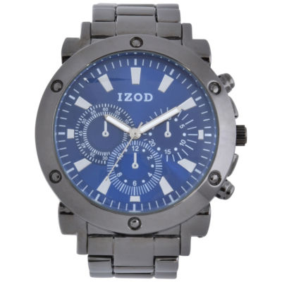 IZOD Mens Gray Strap Watch-Izo5164jc