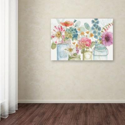 Trademark Fine Art Lisa Audit Rainbow Seeds Flowers X Giclee Canvas Art