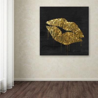 Trademark Fine Art Color Bakery Golden Lips GicleeCanvas Art