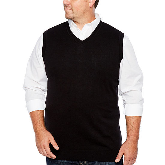 The Foundry Big & Tall Supply Co. Mens V Neck Sweater Vest Big and Tall