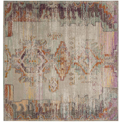 Safavieh Crystal Collection Wyatt Oriental SquareArea Rug