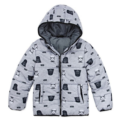 Outerwear - Boys Star Wars Heavyweight Puffer Jacket-Big Kid