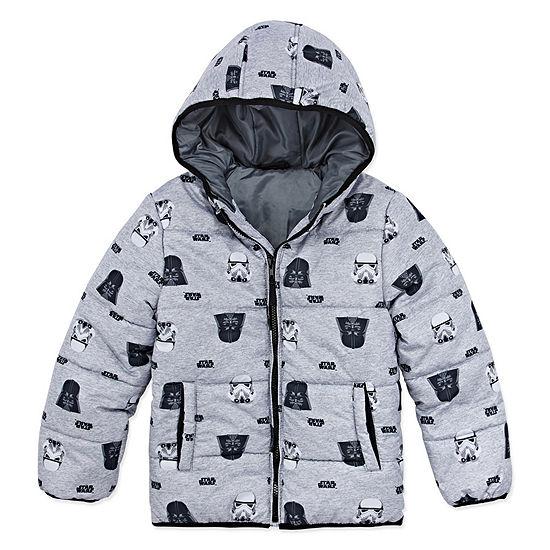 Outerwear - Boys Star Wars Heavyweight Puffer Jacket-Big Kid