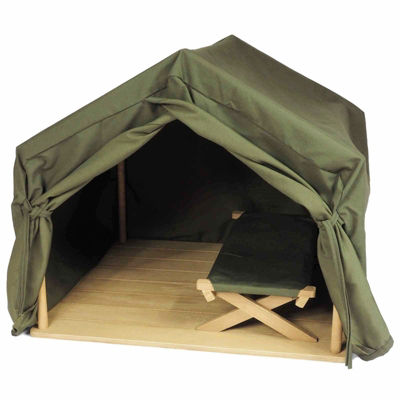 The Queen's Treasures 18 Inch Doll Gombe Research Camping Tent/Cot