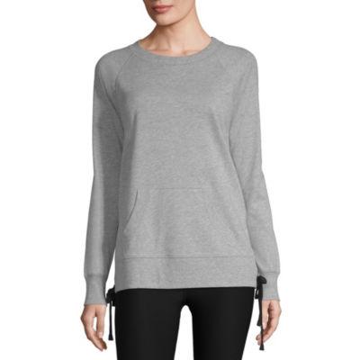 Xersion Side Lace Up Sweatshirt - Tall