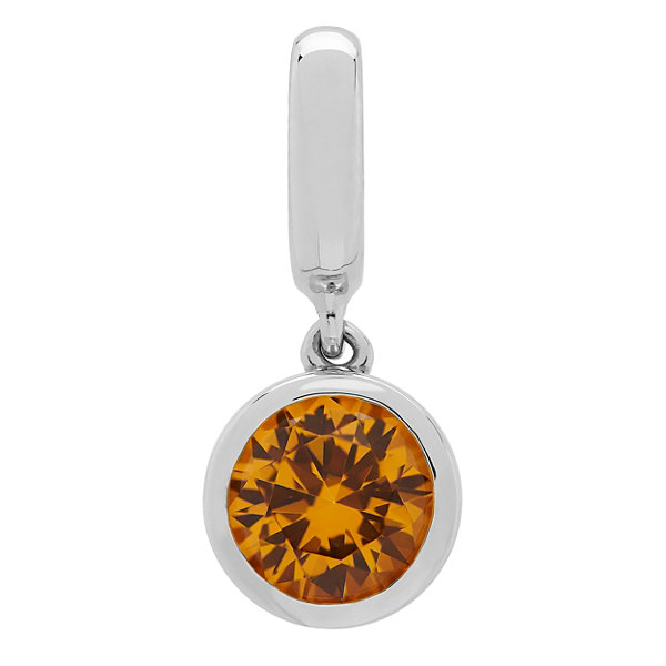 PS Personal Style Simulated Citrine Sterling Silver Charm