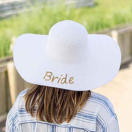 Cathy's Concepts Bride Sequin Beach Hat