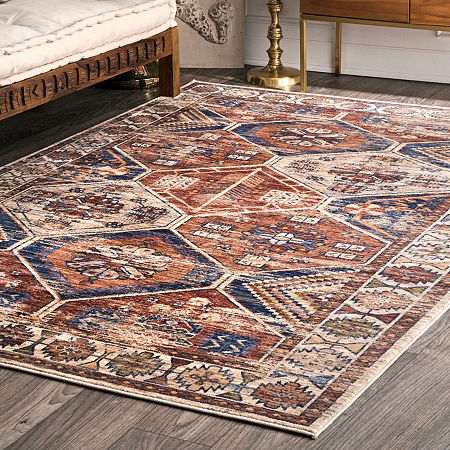 nuLoom Vintage Sharonda Overdyed Area Rug, One Size , Brown