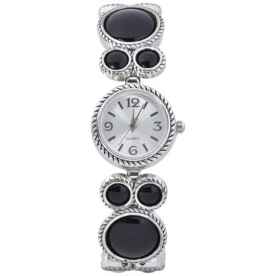 Mixit Womens Silver Tone Bracelet Watch-Wac2027jc