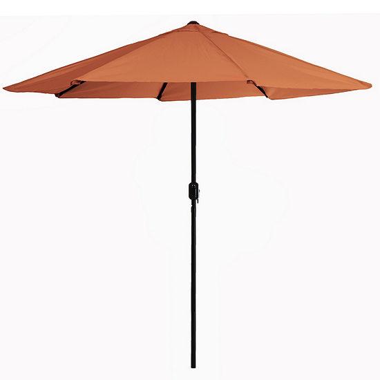 Pure Garden 9 ft. Aluminum Patio Umbrella with Auto Crank
