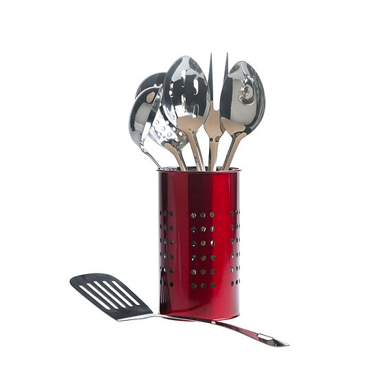 Basic Essentials Stainless Steel Colors 7-pc. Kitchen Utensil Set