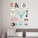 New View Assorted Icons Wall Decal