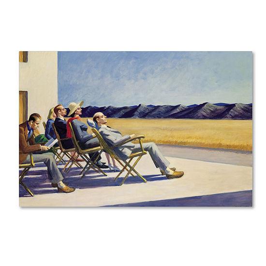 Trademark Fine Art Edward Hopper People in Sun Giclee Canvas Art