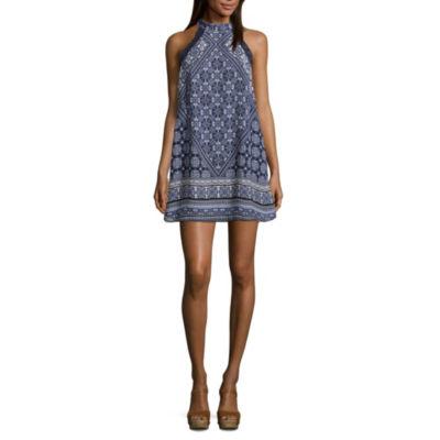 Speechless Sleeveless Pattern Shift Dress-Juniors