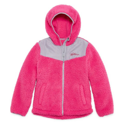 Weatherproof Fleece Hooded Lightweight Jacket-Big Kid Girls