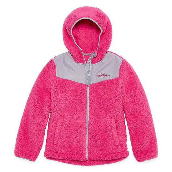 Weatherproof Fleece Hooded Lightweight Jacket-Big Kid Girls