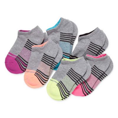 Xersion Girls 6 Pair No Show Socks
